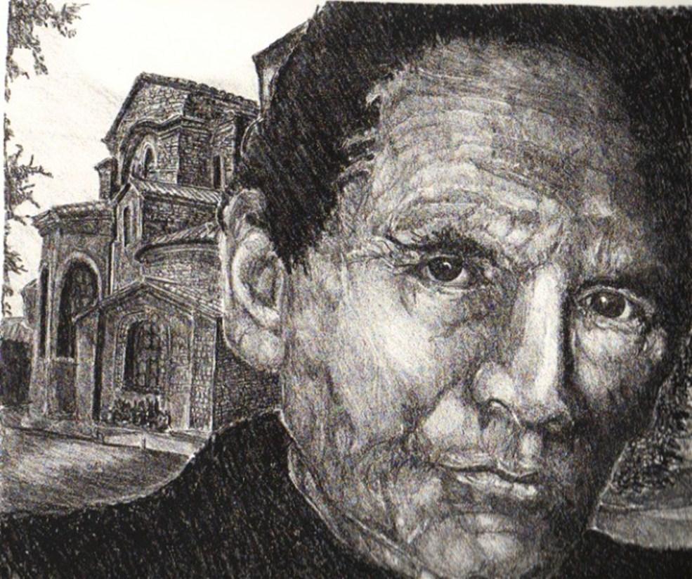 A Face At San Vitale Ravenna Italy