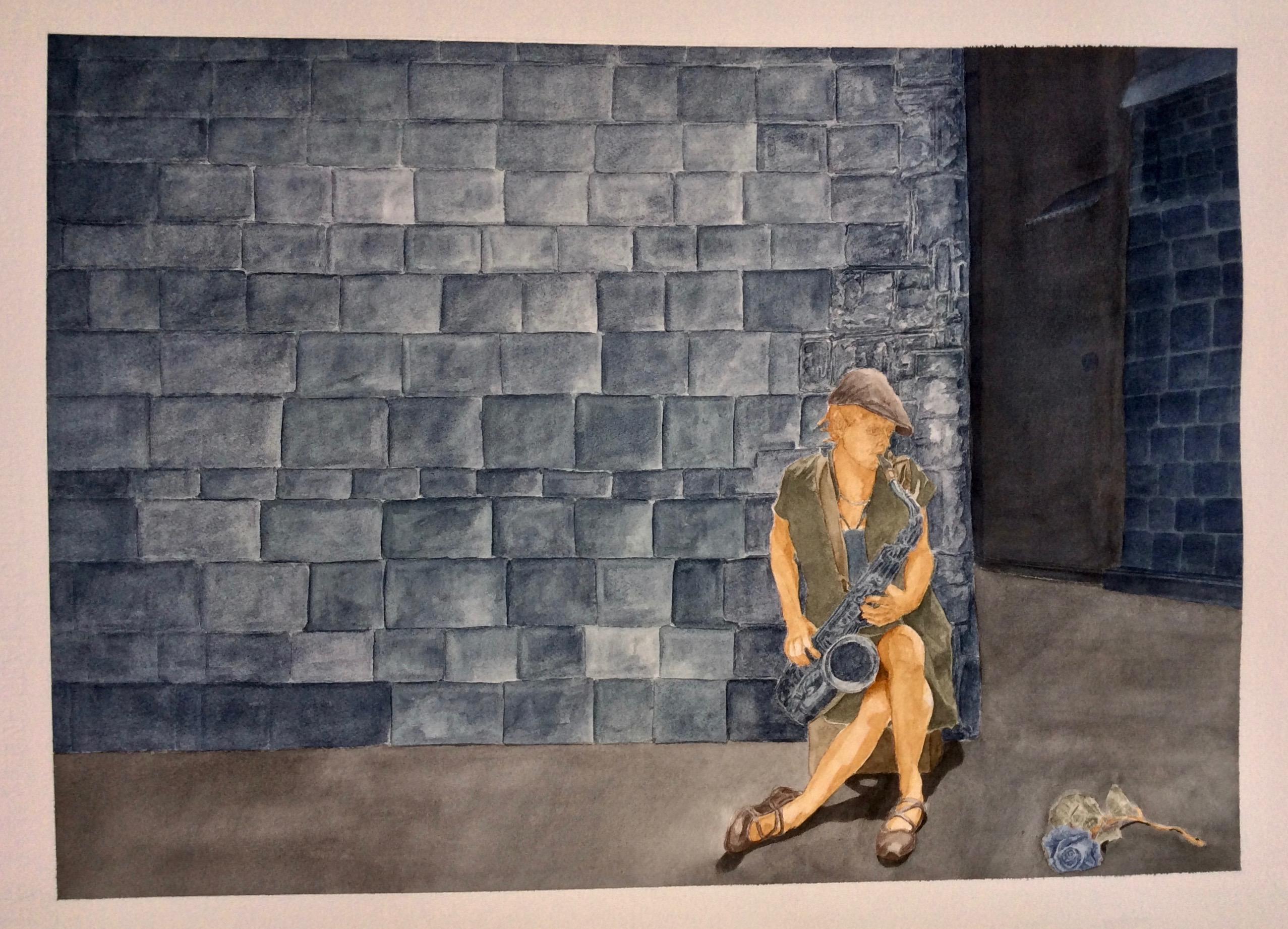 The solitude of a blue rose serenade:   La solitudine di una serenata di rosa blu